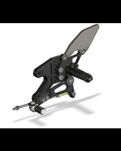 Rear Set Kit, Yam R3 2015- , Black